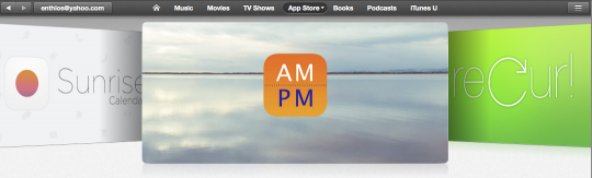 AM-PM Featured on iTunes App Store