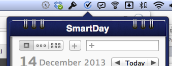 SmartDay drops from the top of your menu bar